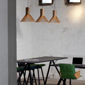 lampade sospensione legno secto